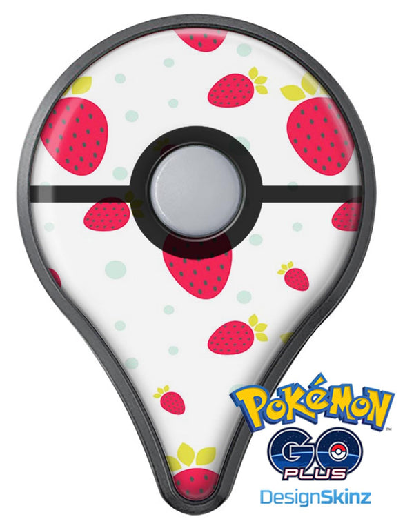 Summer Strawberries v1 Pokémon GO Plus Vinyl Protective Decal Skin Kit
