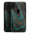 Swirling Dark Acrylic Marble - iPhone XS MAX, XS/X, 8/8+, 7/7+, 5/5S/SE Skin-Kit (All iPhones Available)