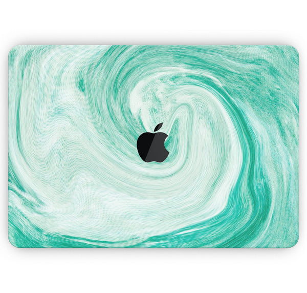 "Swirling Mint Acrylic Marble- Skin Decal Wrap Kit Compatible with the Apple MacBook Pro, Pro with Touch Bar or Air (11"", 12"", 13"", 15"" & 16"" - All Versions Available)"