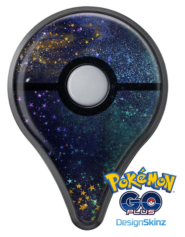 Swirling Multicolor Star Explosion  Pokémon GO Plus Vinyl Protective Decal Skin Kit