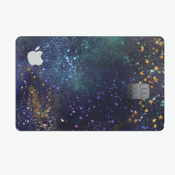 Swirling Multicolor Star Explosion  - Premium Protective Decal Skin-Kit for the Apple Credit Card