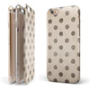 Tan and Black Grunge Polka Dots iPhone 6/6s or 6/6s Plus 2-Piece Hybrid INK-Fuzed Case