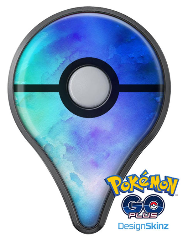 Teal 424 Absorbed Watercolor Texture Pokémon GO Plus Vinyl Protective Decal Skin Kit