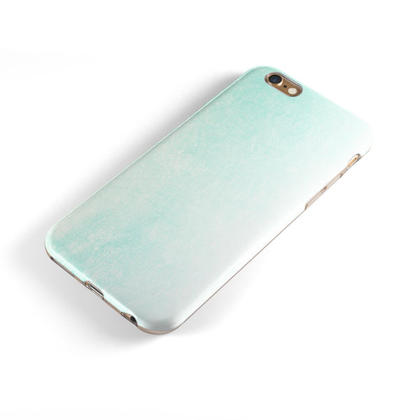 Teal Grunge Fade to White  iPhone 6/6s or 6/6s Plus 2-Piece Hybrid INK-Fuzed Case