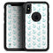 Teal Micro Anchors - Skin Kit for the iPhone OtterBox Cases