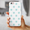 Teal Micro Ship Wheels iPhone 6/6s or 6/6s Plus 2-Piece Hybrid INK-Fuzed Case