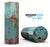 Teal Painted Rustic Metal - Full-Body Skin-Kit for the Amazon Echo