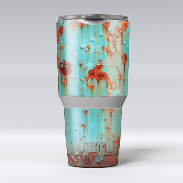Teal_Painted_Rustic_Metal_-_Yeti_Rambler_Skin_Kit_-_30oz_-_V1.jpg