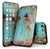 Teal Painted Rustic Metal - 4-Piece Skin Kit for the iPhone 7 or 7 Plus