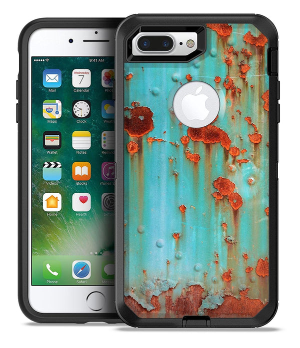 Teal Painted Rustic Metal - iPhone 7 Plus/8 Plus OtterBox Case & Skin Kits