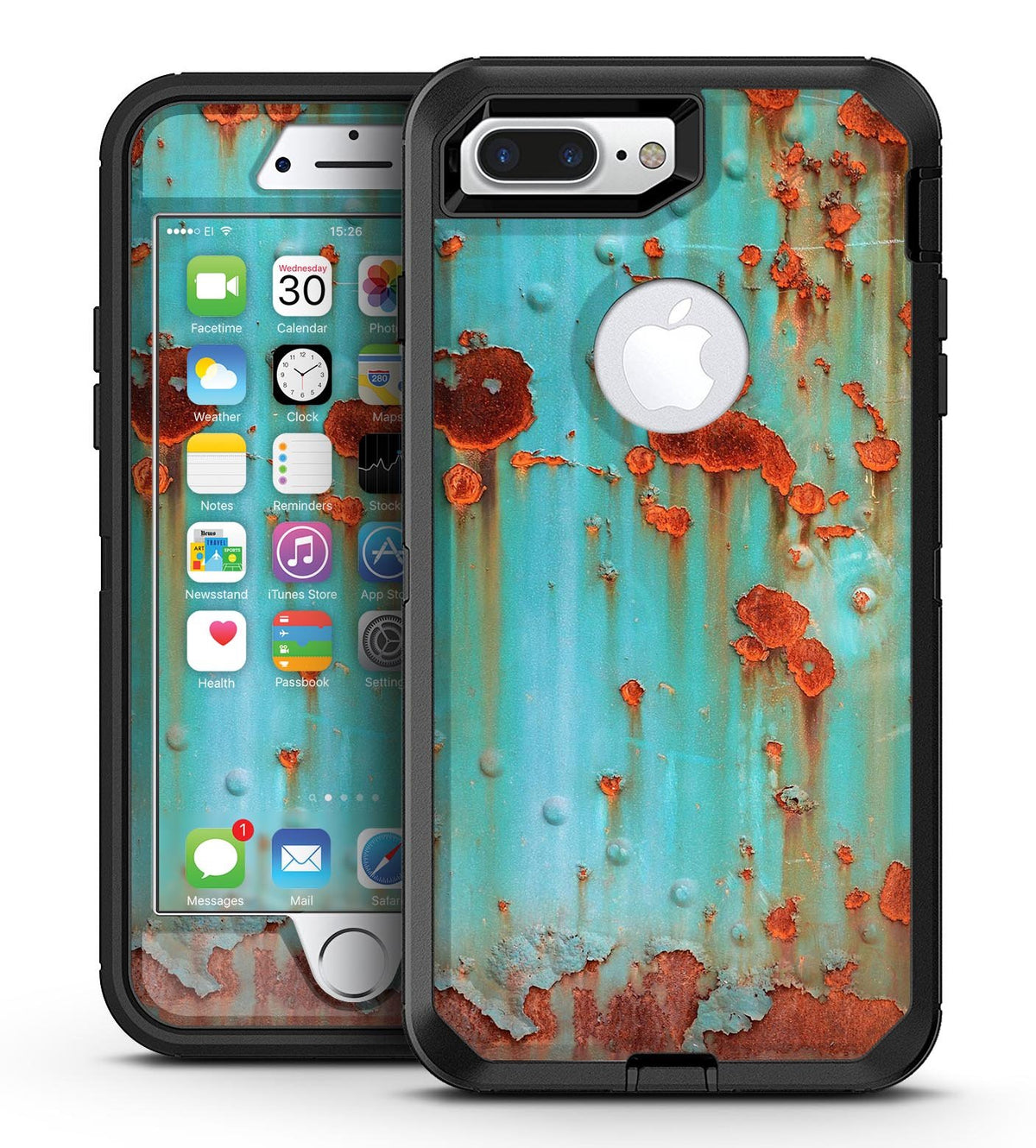 buy online 355a9 bca8e Teal Painted Rustic Metal - iPhone 7 Plus/8 Plus OtterBox Case & Skin Kits