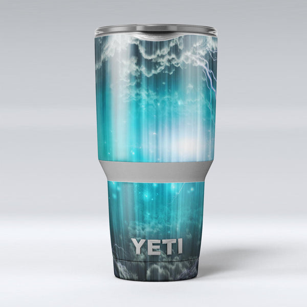 Teal_Twilight_Zone_with_Strikes_of_Lightening_-_Yeti_Rambler_Skin_Kit_-_30oz_-_V1.jpg
