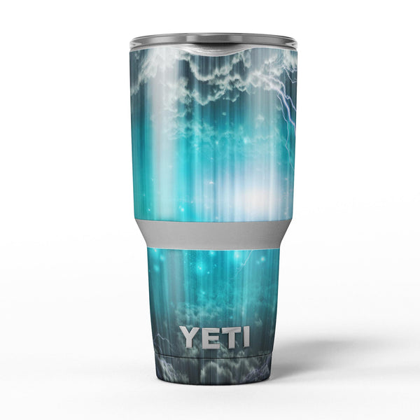 Teal_Twilight_Zone_with_Strikes_of_Lightening_-_Yeti_Rambler_Skin_Kit_-_30oz_-_V5.jpg
