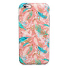 Teal and Coral Whispy Feathers iPhone 6/6s or 6/6s Plus 2-Piece Hybrid INK-Fuzed Case