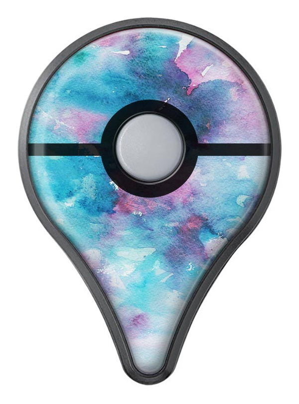 Teal to Pink 434 Absorbed Watercolor Texture Pokémon GO Plus Vinyl Protective Decal Skin Kit