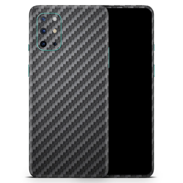 Textured Black Carbon Fiber - Full Body Skin Decal Wrap Kit for OnePlus Phones