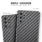 Textured Black Carbon Fiber - Skin-Kit for the Samsung Galaxy S-Series S20, S20 Plus, S20 Ultra , S10 & others (All Galaxy Devices Available)