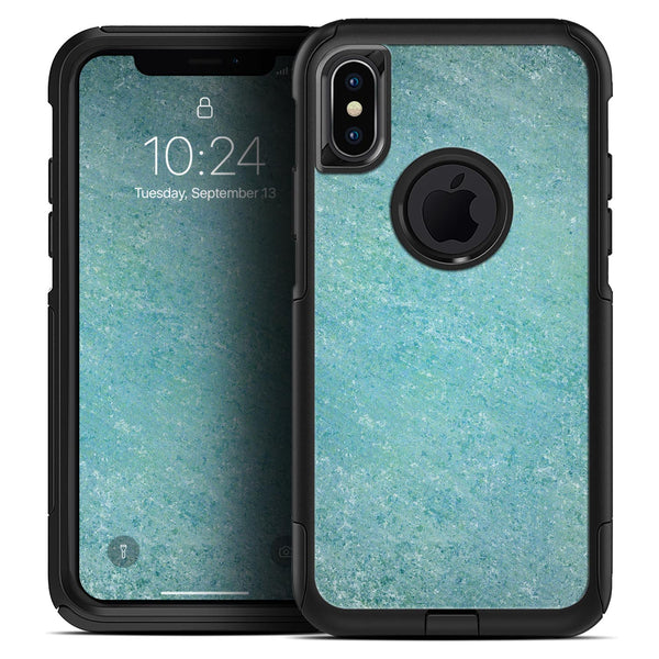 Textured Teal Surface - Skin Kit for the iPhone OtterBox Cases