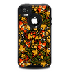 The Colorful Floral Pattern with Strawberries Skin for the iPhone 4-4s OtterBox Commuter Case