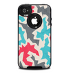 The Retro Colored Abstract Maze Pattern Skin for the iPhone 4-4s OtterBox Commuter Case