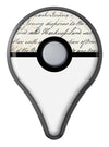 The 18th Century Script Pattern Pokémon GO Plus Vinyl Protective Decal Skin Kit