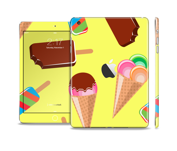 The 3d Icecream Treat Collage Full Body Skin Set for the Apple iPad Mini 2