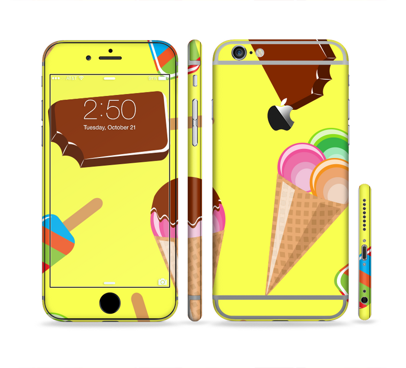 The 3d Icecream Treat Collage Sectioned Skin Series for the Apple iPhone 6s