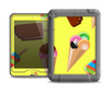 The 3d Icecream Treat Collage Apple iPad Mini LifeProof Nuud Case Skin Set