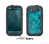 The Abstact Blue Tiled Skin For The Samsung Galaxy S3 LifeProof Case