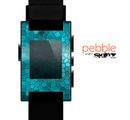 The Abstact Blue Tiled Skin for the Pebble SmartWatch