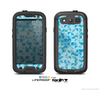 The Abstarct Blue Triangular Cubes  Skin For The Samsung Galaxy S3 LifeProof Case