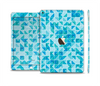 The Abstarct Blue Triangular Cubes Skin Set for the Apple iPad Air 2