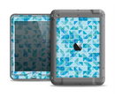 The Abstarct Blue Triangular Cubes  Apple iPad Mini LifeProof Nuud Case Skin Set
