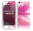 The Abstarct Pink Flowing Feather Skin for the Apple iPhone 5c