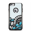 The Abstract Black & Blue Paisley Waves Apple iPhone 6 Plus Otterbox Commuter Case Skin Set
