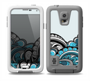 The Abstract Black & Blue Paisley Waves Skin for the Samsung Galaxy S5 frē LifeProof Case
