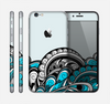 The Abstract Black & Blue Paisley Waves Skin for the Apple iPhone 6