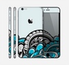 The Abstract Black & Blue Paisley Waves Skin for the Apple iPhone 6 Plus