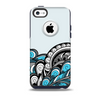 The Abstract Black & Blue Paisley Waves Skin for the iPhone 5c OtterBox Commuter Case