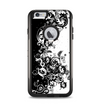 The Abstract Black & White Swirls Apple iPhone 6 Plus Otterbox Commuter Case Skin Set