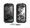 The Abstract Black & White Swirls Skin For The Samsung Galaxy S3 LifeProof Case