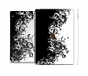 The Abstract Black & White Swirls Skin Set for the Apple iPad Air 2