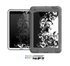 The Abstract Black & White Swirls Skin for the Apple iPad Mini LifeProof Case