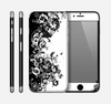 The Abstract Black & White Swirls Skin for the Apple iPhone 6
