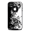 The Abstract Black & White Swirls Skin for the iPhone 4-4s OtterBox Commuter Case