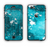 The Abstract Bleu Paint Splatter Apple iPhone 6 LifeProof Nuud Case Skin Set