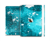 The Abstract Bleu Paint Splatter Skin Set for the Apple iPad Air 2