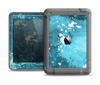 The Abstract Bleu Paint Splatter Apple iPad Mini LifeProof Nuud Case Skin Set