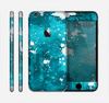 The Abstract Bleu Paint Splatter Skin for the Apple iPhone 6