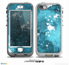 The Abstract Bleu Paint Splatter Skin for the iPhone 5-5s NUUD LifeProof Case